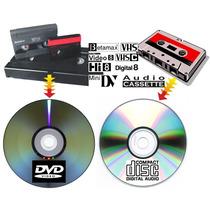Paso Cintas Vhs Betamax Video8 Minidv A Digital O Dvd