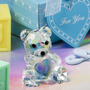 Recordatorios Osito De Cristal Baby Shower Niños Niñas