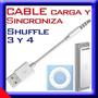 Cable De Datos Ipod Shuffle 3 4 Carga Y Sincroniza