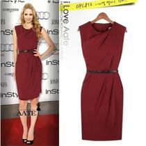 Vestido Rojo Con Apliques Modernos
