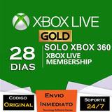 Xbox Live Gold 28 Dias 2 X 14 Dias Codigo