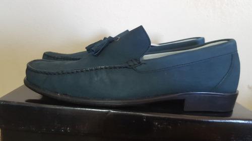 d0f47816 Zapatos Mocasines Nubuck-nebuloni Azul Zafiro-tallas 40 Y 41