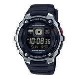 Reloj Casio Ae-2000w-1b Alarma Hora Mundial Crono Original!