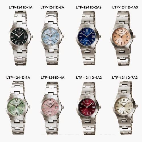 21ceb86aa2c3 Reloj Casio Ltp-1241en Todos Los Colores Para Dama