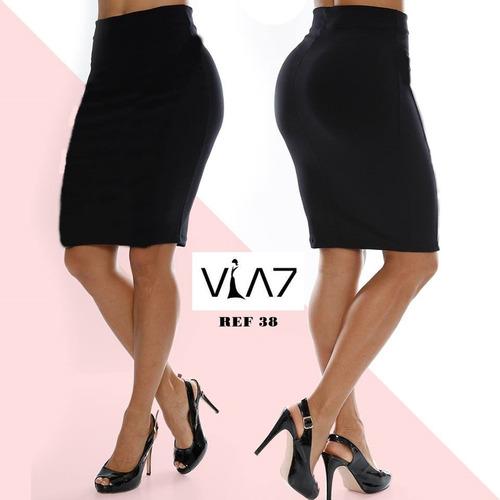 df7a4ba94b Falda Corta Talle Alta Para Mujer Lisa Licrada Para Mujer