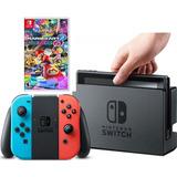 Consola Nintendo Switch 32gb Nueva Mario Kart 8 Fisico