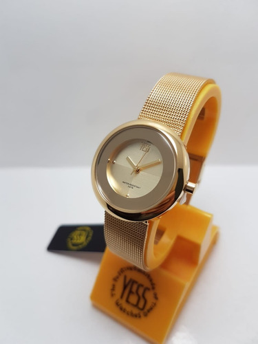 e3d69cef5930 Reloj Yess S15364s Dorado Mujer Original