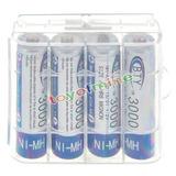 Pilas Baterías Aa Recargables 3000 Mah Ni-mh X 4 + Obsequio