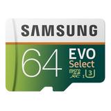 Memoria Samsung Evo Select 64gb Microsd Uhs-3 Sdxc 100mb/s