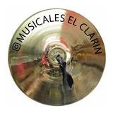 Platillos Para Banda Marcial 30cm + Maniguetas En Cuero