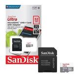 Micro Sd Sandisk Ultra 32g Clase 10 80mb/s Original Full Hd