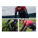 Uniforme Ciclismo Ineos Largo Badana Gel Bicicletas Ruta Mtb