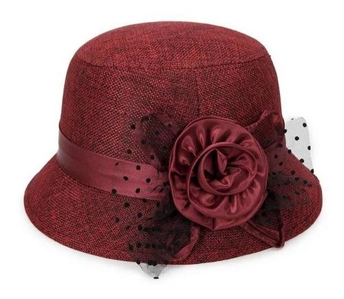 7c8846b461 Sombrero Mujer Elegante Estilo Dama Antigua