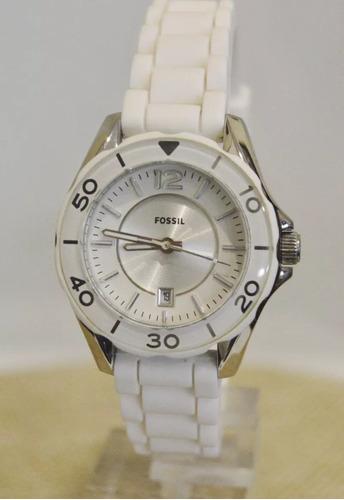 1b0a66b4ada9 Vendo O Cambio Reloj Fósil Mujer Blanco Como Nuevo