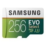 Memoria Micro Sd Samsung 256gb Clase 10 U3 100mbs Ultrahd 4k