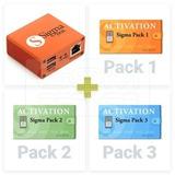 Sigma Box Con Packs 1,2,3 100 % Nuevo