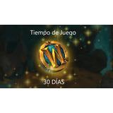 Ficha World Of Warcraft 30 Días, Tiempo De Juego, Token