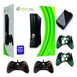 Xbox 360 5.0 Disco Duro 250g 50j+ 2controles+siliconas Usada