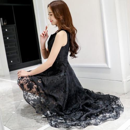 6522abe2ee Vestido Negro Luxury Grados Fiesta Coctel Disponible