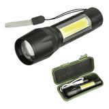 Linterna Tactica Linterna Led Recargable X Usb Zoom Aluminio