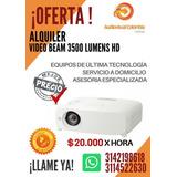 Alquiler Video Beam 3.500 Lumens Hd $20.000 Hora 3142198618