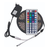 Kit Cinta Led Multicolor Rgb Luz 5mts + Control + Adaptador