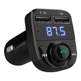 Transmisor Bluetooth Fm Dual Usb Manos Libres V4.1 Carro Mic