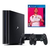 Playstation 4 Pro 1tb + 2 Controles + Fifa 20