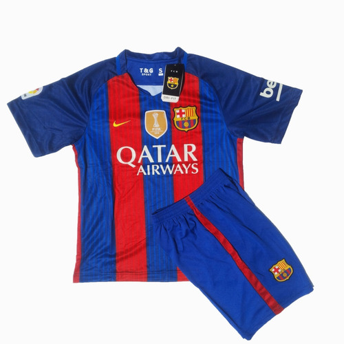 9d6e4dd7ca465 Uniforme Fc Barcelona Local 2016 2017 Adulto