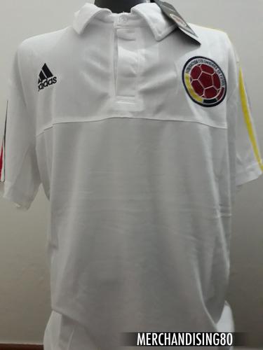 Camiseta Selección Colombia Tipo Polo Blanca b1647153550a5