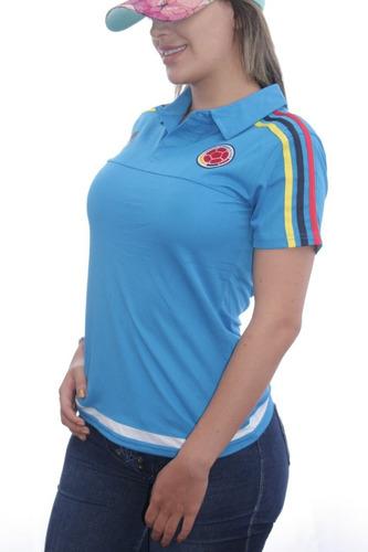 Camiseta Selección Colombia Mujer 2017 Original Tipo Polo 42b98d897390a