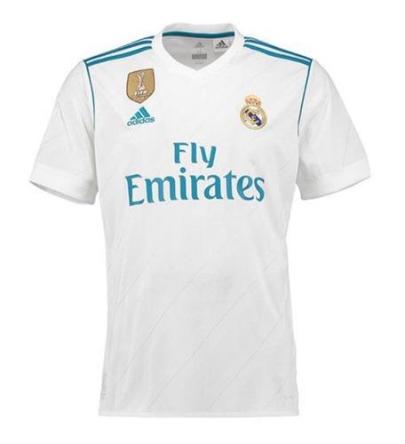 741b28a1 Camiseta Real Madrid 2017/2018 Climacool Campeon Del Mundo