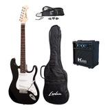 Combo Completo Guitarra Electrica Con Amplificador Y Mas