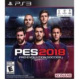 Pro Evolution Soccer 2018 Pes 18 Latino Ps3 Digital