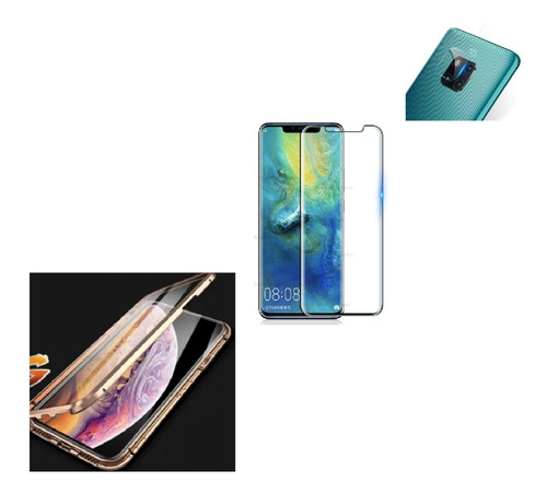 Kit Magnetico Protector Huawei Mate 20 Pro + Vidr 6d + Camar