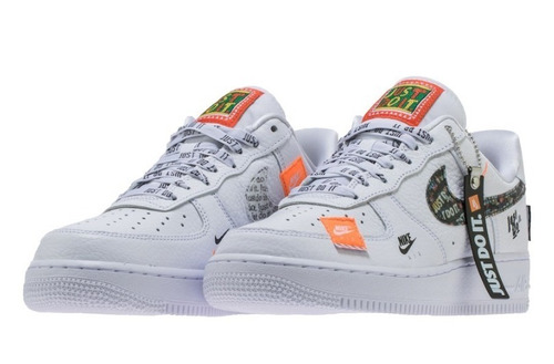 e85d588e1f0 Tenis Nike Air Force One Just Do It Blanca Hombre
