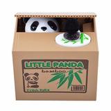 Alcancia Roba Monedas Panda Ahorros Dinero Oso