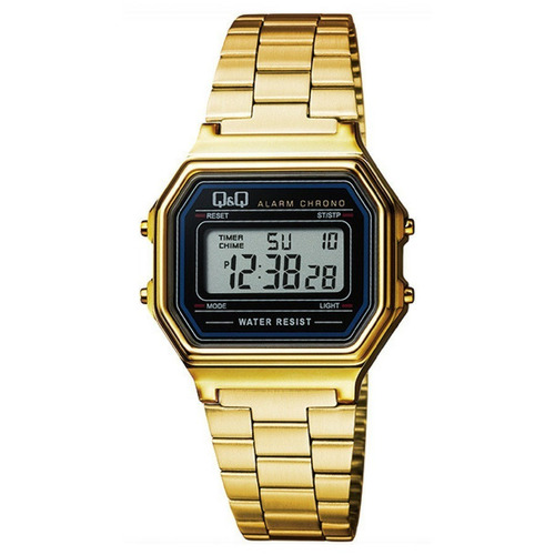 c14cc2702e4b Reloj Q q Estilo Retro unisex Dorado