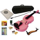 Combo Violin Greko Colores Estuche Arco Afinador Atril /
