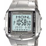 Reloj Casio Unisex Retro Db 360 Plateado Telememo Original!!