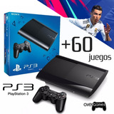 Playstation 3 + 60 Juegos Digitales Refurbished + Fifa 19