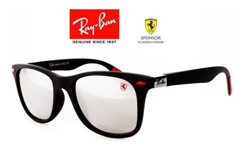 c7811f075d Gafas Ray Ban Ferrari Wayfarer Lente Espejo + Envio Gratis