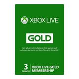 Xbox Live Gold 3 Meses Colombia Entrega En Minutos