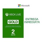 Xbox Live Gold 2 Días Región Libre Código Trial