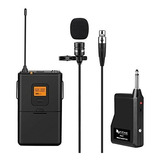 Microfono De Solapa Uhf De 20 Canales Con Transmisor Bodypac