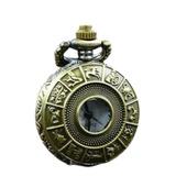 Reloj Bolsillo Envejecido Zodiaco Pequeño Astrologia Signos