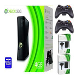 Xbox 360 5.0 + 2 Controles+siliconas+grips+ Obsequios Usada