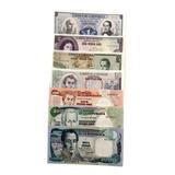 Set De 7 Billetes Antiguos De Colombia Nuevos Sin Circular