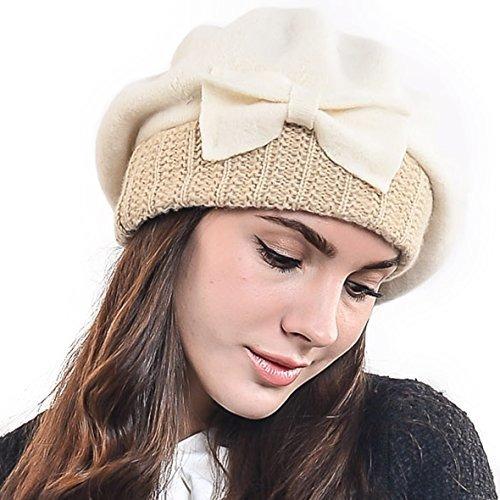 F n Story Boina De Invierno Francesa Lana Para Mujer Crema 58576855042