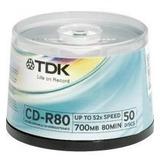 Tina De 50tdk Cd-r80700mb 52x Por Tdk/ritek (50pieza